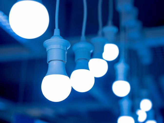 lampu led bergantung